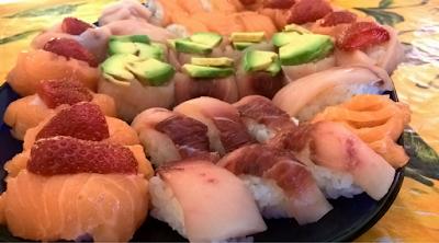 Sushi senza alga: nigiri, gunkan e sashimi