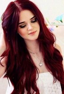Warna Rambut Untuk Kulit Sawo coklat burgundy