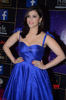 Mannara Chopra in Deep Neck Blue Gown at Zee Telugu Apsara Awards ~  Exclusive 040.jpg