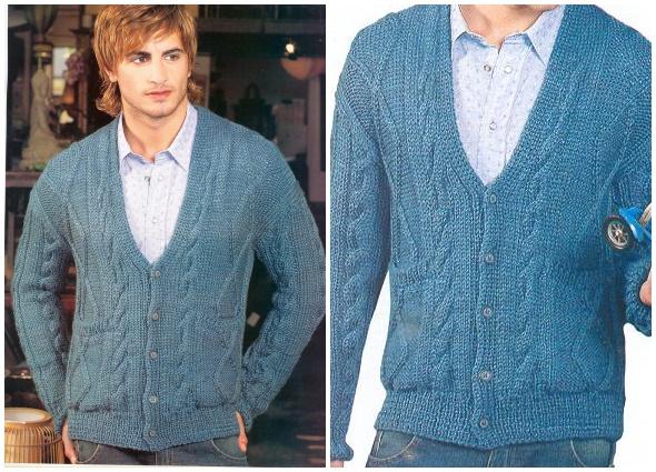 chaqueta, crochet, hombres,ganchillo, masculino