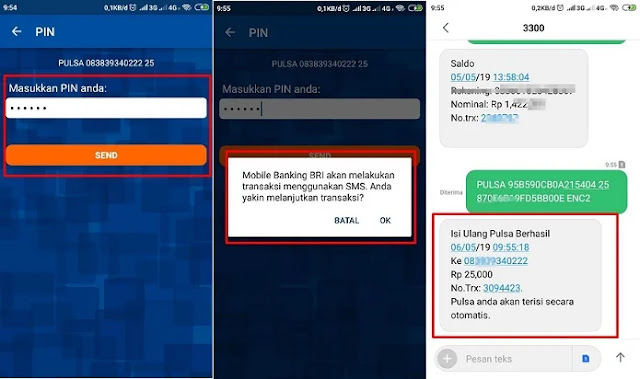 Pulsa mobile banking