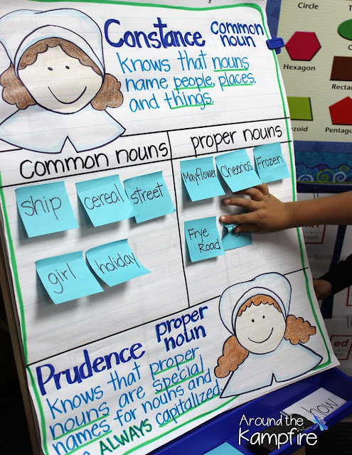Pilgrim common and proper nouns anchor chart