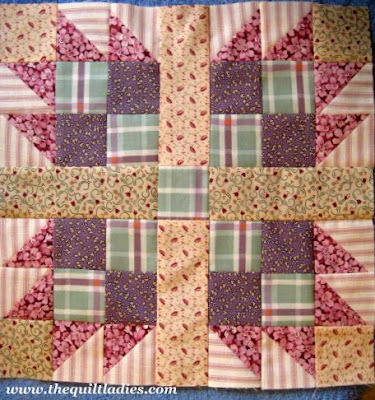Quilt Ladies 52 Weeks of Quilt Pattern Blocks, Week 42 Bear's Paw