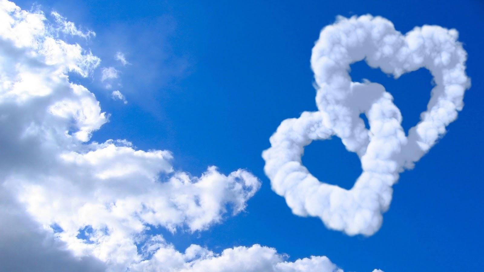 Free Wallpaper Dekstop: 3d love with clouds wallpaper, wallpaper for desktop
