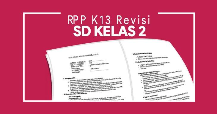 Rpp K13 Sd Kelas 2 Revisi 2017 2018 Rpp K13