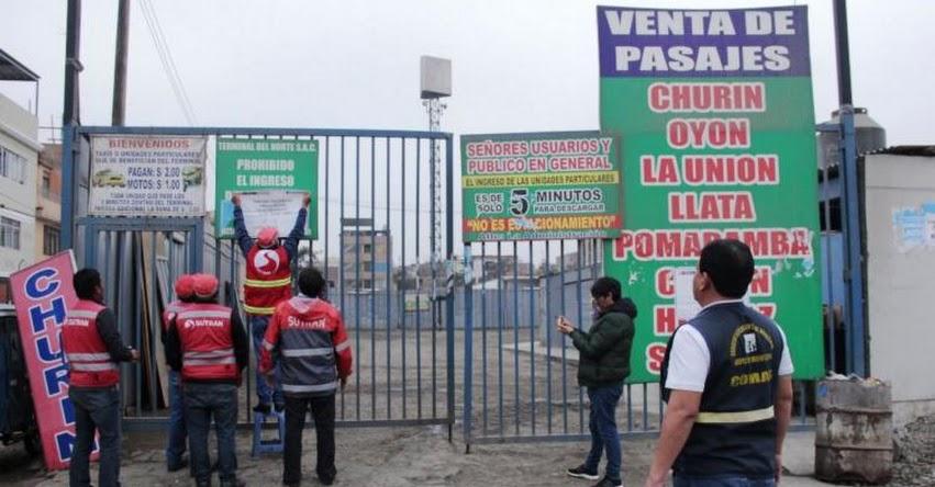SUTRAN: Conoce los terminales terrestres clausurados en La Victoria - www.sutran.gob.pe