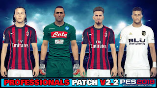 PES 2018 Option File PES Professionals Patch V2.2 Update Summer Transfer 20-8-2018