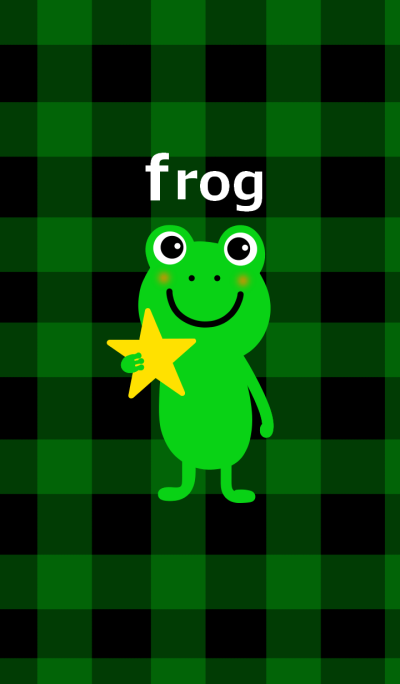 Frog and star and check pattern
