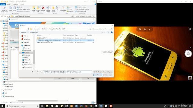 agregando stock rom del Samsung Galaxy core prime lte a odin