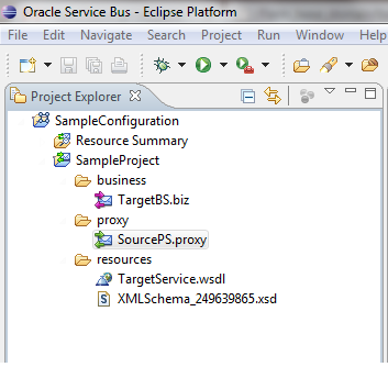OSB Eclipse Debugger Sample Project