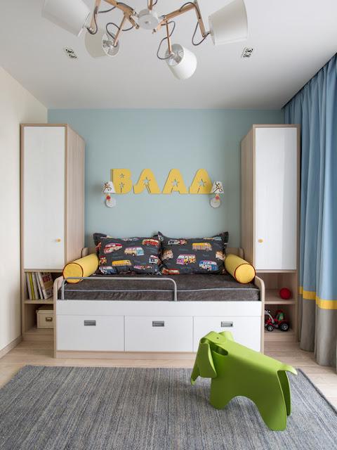светлая комната для мальчика
