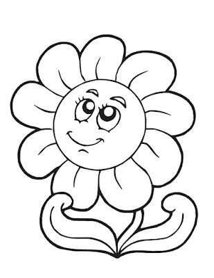 Gambar Mewarnai Bunga - 17