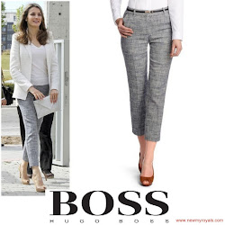 Crown Princess Style - HUGO BOSS Capri Pants and LK BENNETT Wedge
