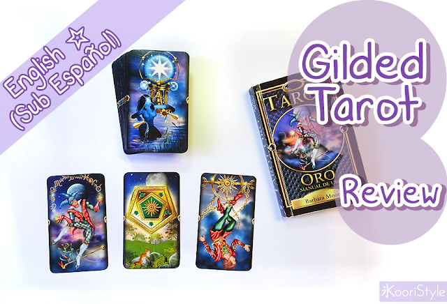 Gilded Tarot, Trimmed, Review, Koori Style, KooriStyle, Koori Midnight, Tarot, Deck, Decks, Collection, Cards, Illustrations, LWB, Booklet, Occult, Spiritual, Oracle, Mystical, Cartas, Baraja, Mazo, Colección, Ilustración, Rider, Waite, First Impression, Ciro Marchetti, Barbara Moore