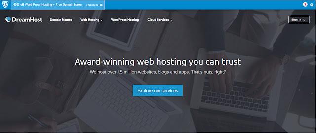 Dreamhost- Best web hosting provider and domain Registrar