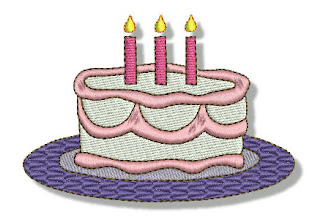 Birthday Embroidered Images.