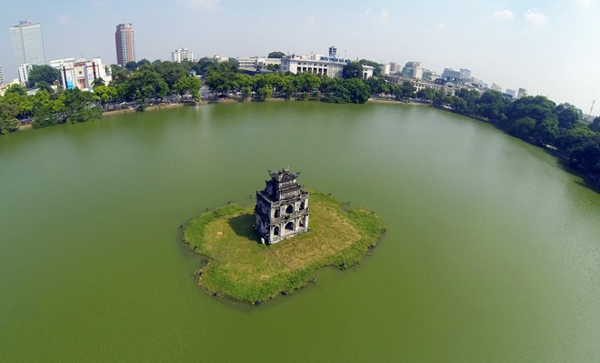 Turtle Tower in Hanoi Vietnam