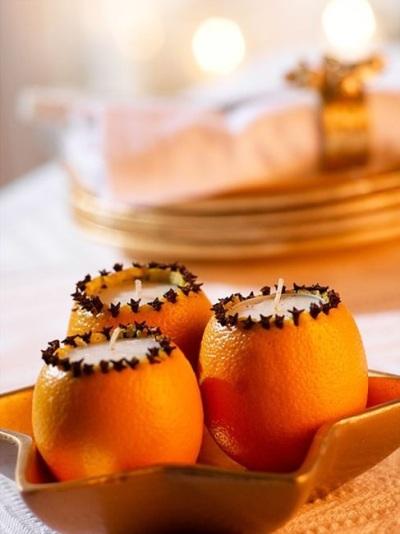 Manfaatkan kulit jeruk sebagai wadah lilin