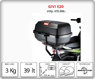 Box GIVI E20=Rp 450.000,-