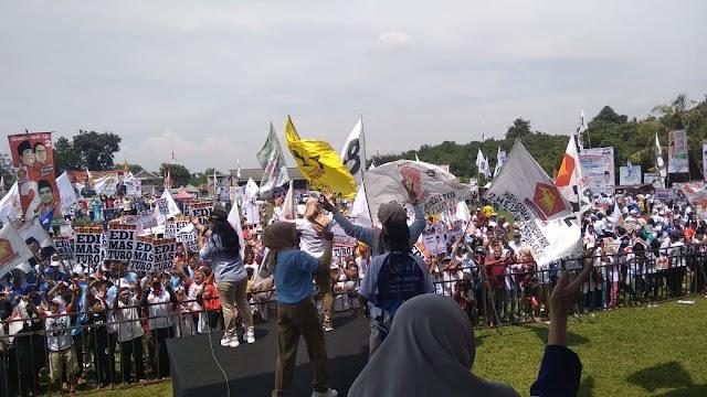 Puluhan Ribu Massa Padati Kampanye Prabowo-Sandi Di Depok