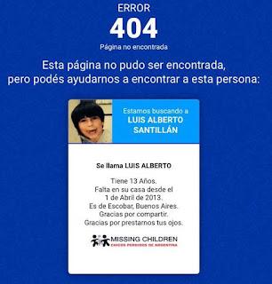 reportar personas error 404