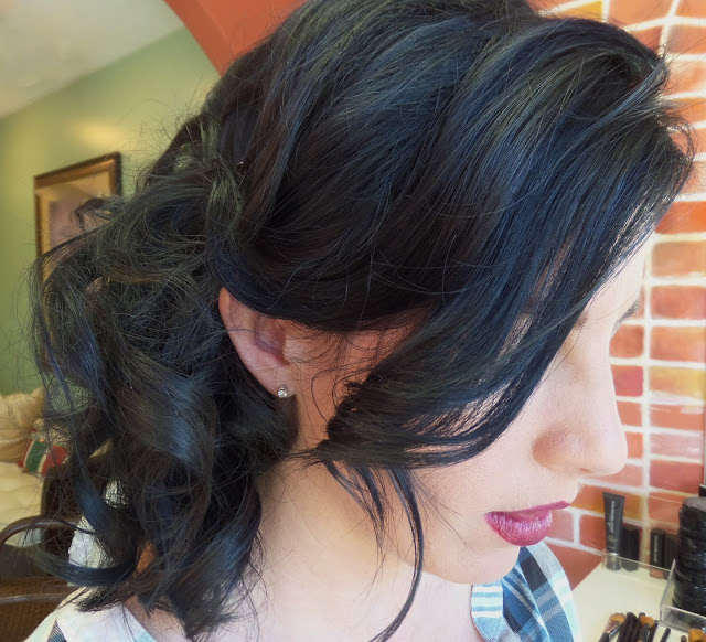 side swept hair by Styling Point