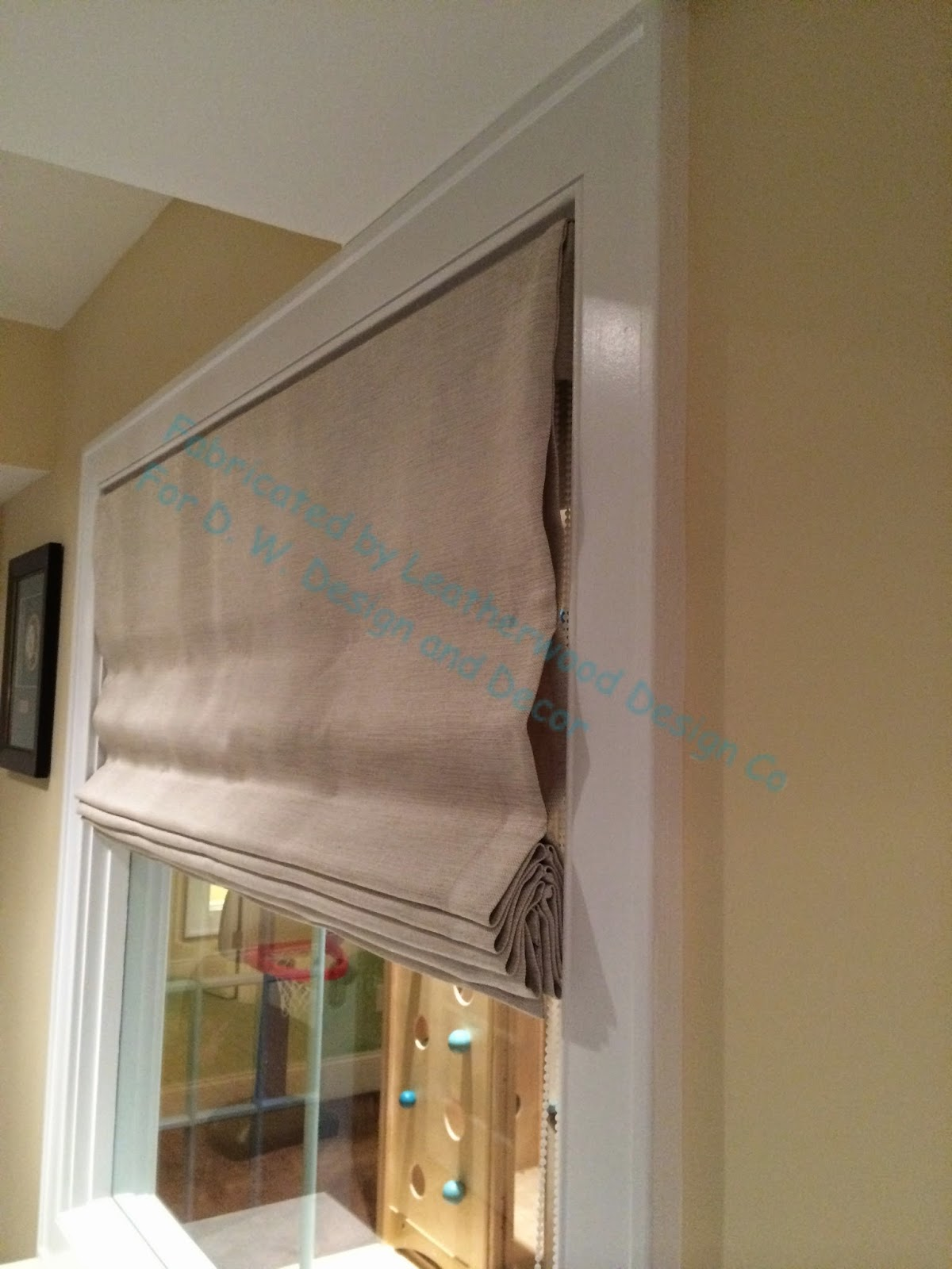Leatherwood Design Co: Double-sided ribbed roman shade- at ...