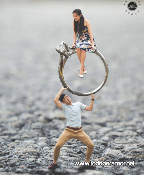 Pareja de novios en miniatura