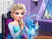 Have a great time playing this new Frozen game called Elsa's Crafts on GamesGirlGames.com. When Elsa sees a crafts competition online she cannot help but enter it, in hopes she might receive first prize. Help our favorite ice queen build a unique item using her special powers.
