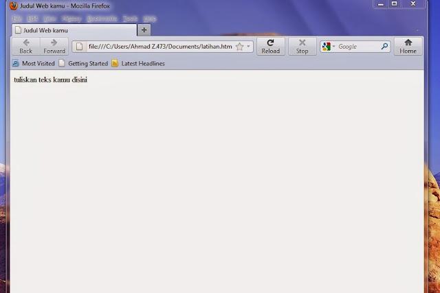 membuat script html di notepad