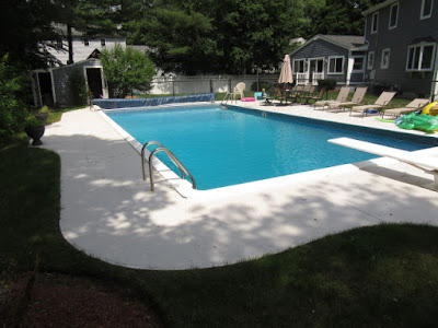 built in pool after painting