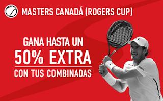 sportium promocion Rogers Cup 7-13 agosto