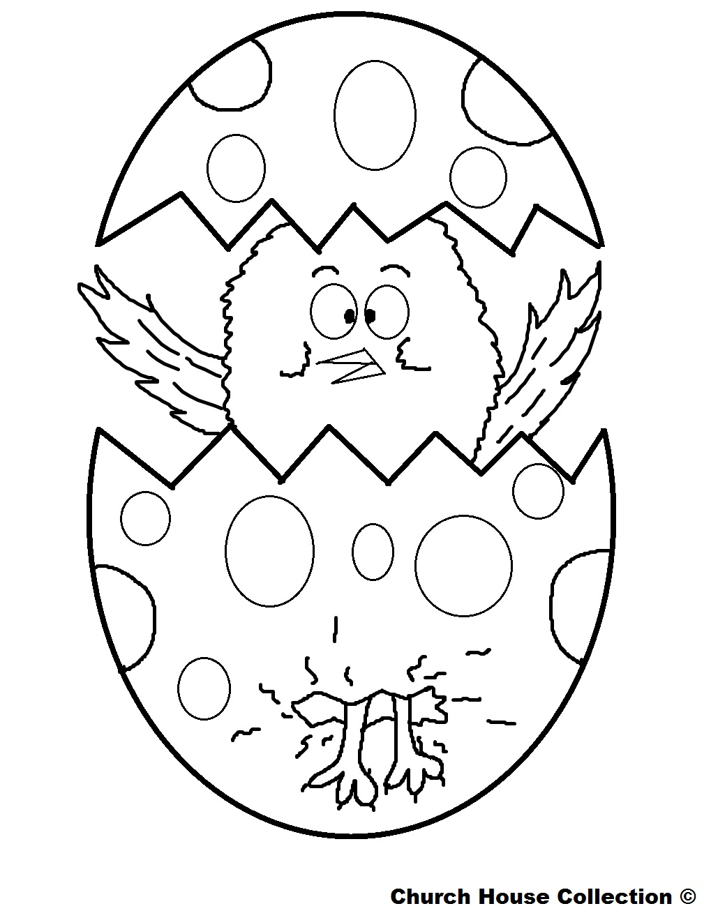 early play templates: Easter chick images