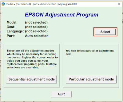 Resetter Epson l210 Download + Instruction Pictures