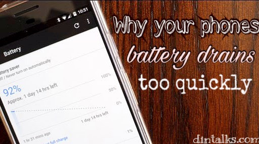 Why your phone battery drains too quickly