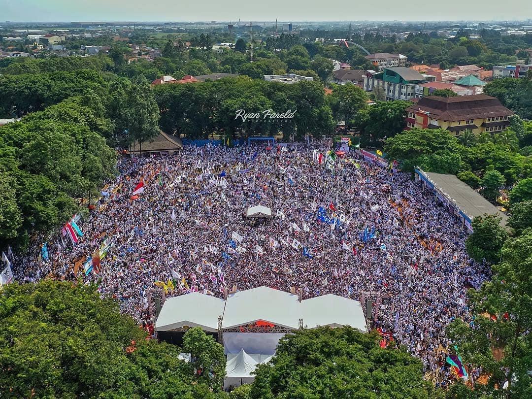 Beda Telak Jumlah Massa Kampanye 01 dan 02 di Tangerang