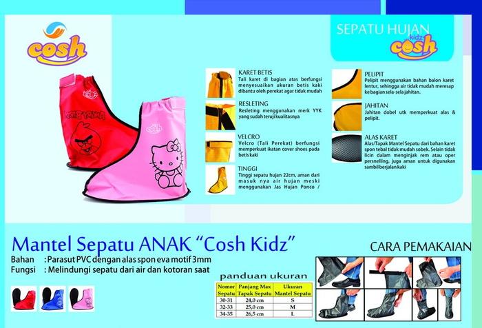 Mantel sepatu jas hujan choes sepatu anak karakter cosh kidz ... 1965e2f6c1