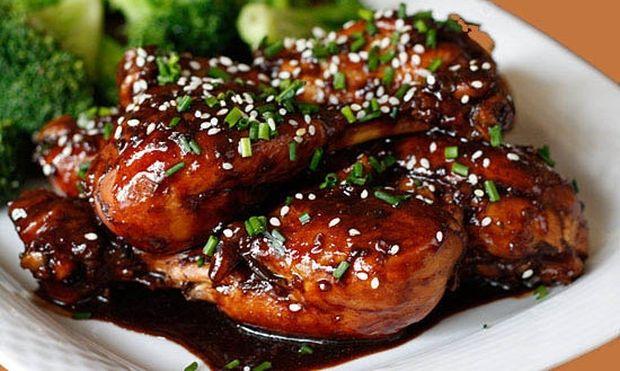 Κοτόπουλο με σουσάμι και μέλι
