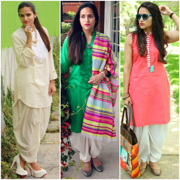 Three Ways To Style A White Salwar, Tanvii.com