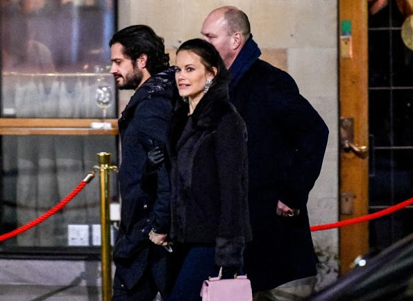 Princess Sofia wore Morris Ophelia faux fur jacket and Valentino bags
