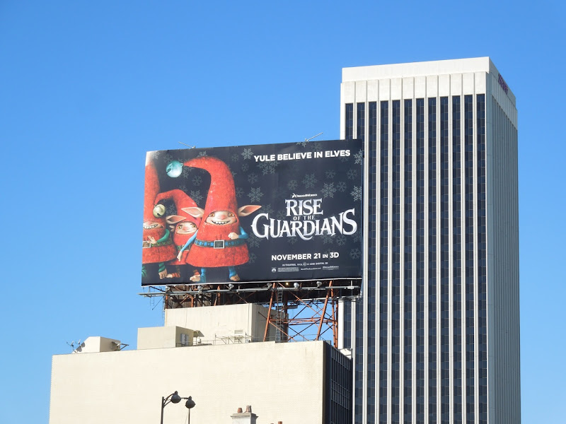 Yule believe in elves Rise Guardians billboard