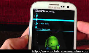 how to Build Android program Recovery Mode hard reset Samsung