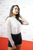 Pragya Jaiswal in lovely Black Mini Skirt and White Transparent Shirt ~  Exclusive 013.JPG