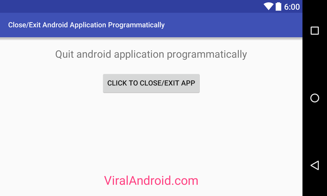 How to Close/Exit Android Application Programmatically