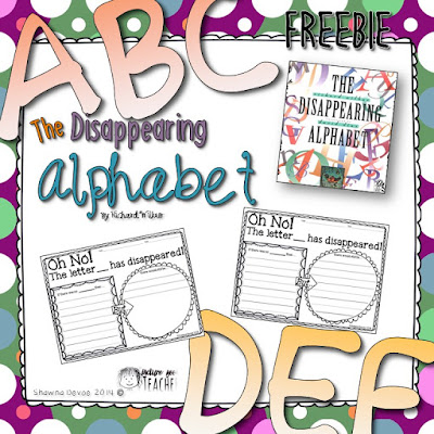 The Disappearing Alphabet Freebie from The Picture Book Teacher