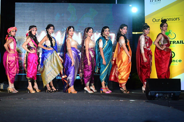 Students pose in ethnic theme at IFIM's NAMAN 2017