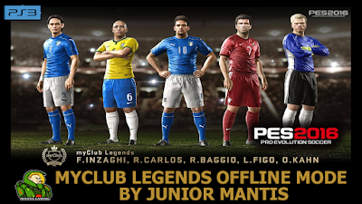 PES 2016 PS3 MyClub Legends Offline by Junior Mantis