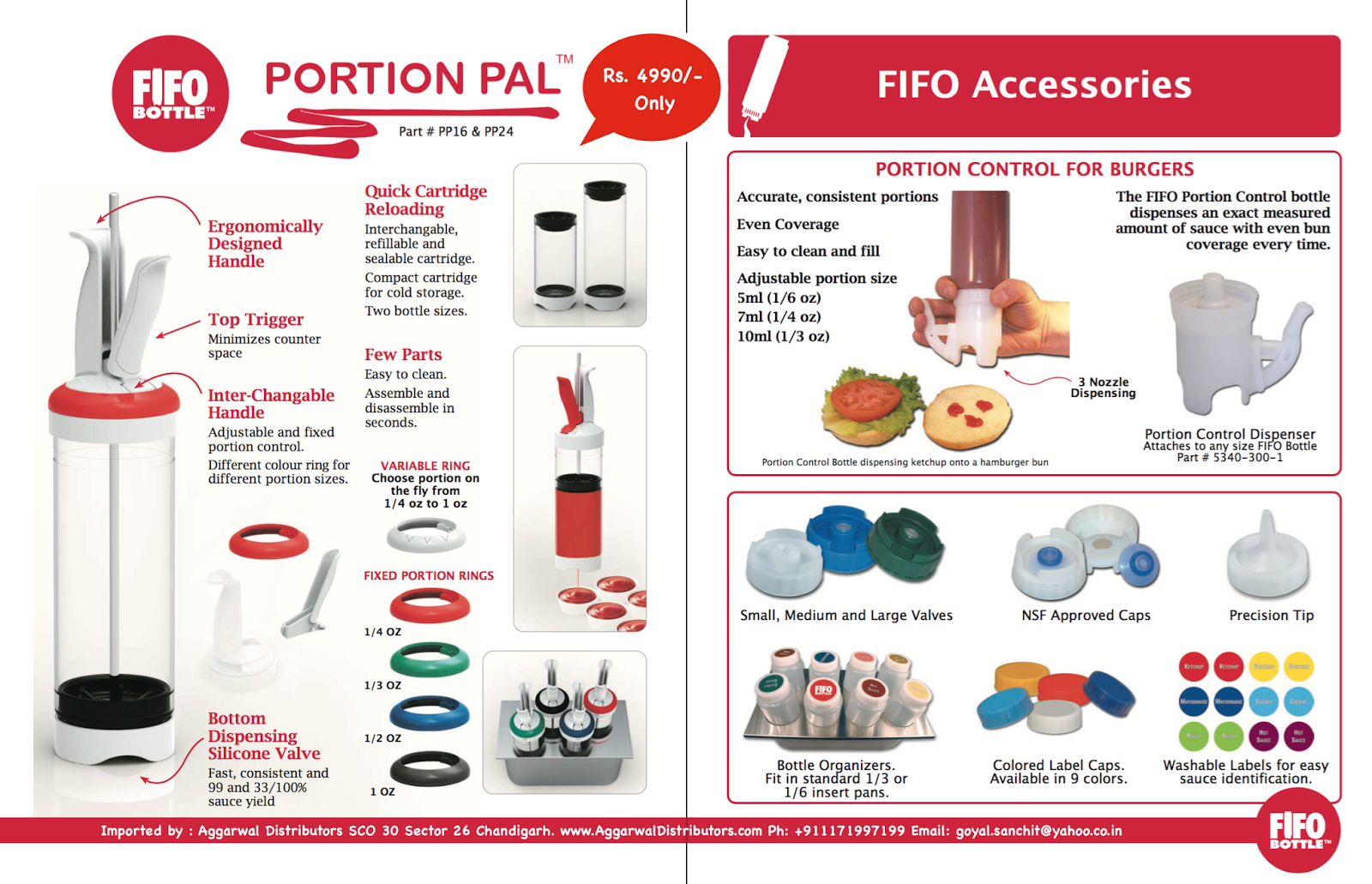Aggarwal Distributors Fifo Bottle And Portion Pal