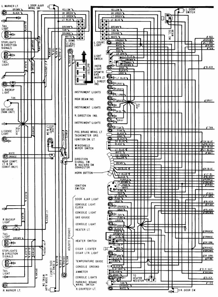 1968 chevrolet corvette power seat wiring diagram all about wiring rh diagramonwiring blogspot com 1967 Camaro Wiring Harness Diagram 5 Wire Relay Wiring Diagram