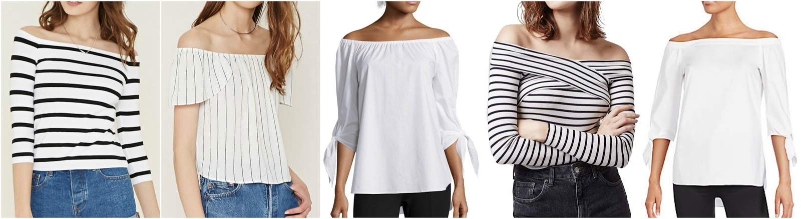 2129ced90a0583 Forever 21 Stripe Off-the-Shoulder Top  9 Forever 21 Contemporary Striped  Top  16